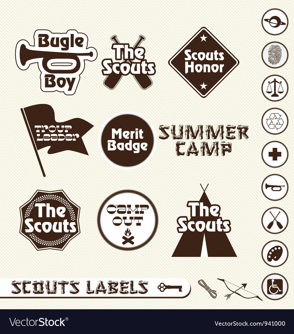 Boy scouts labels vector | Price: 1 Credit (USD $1)