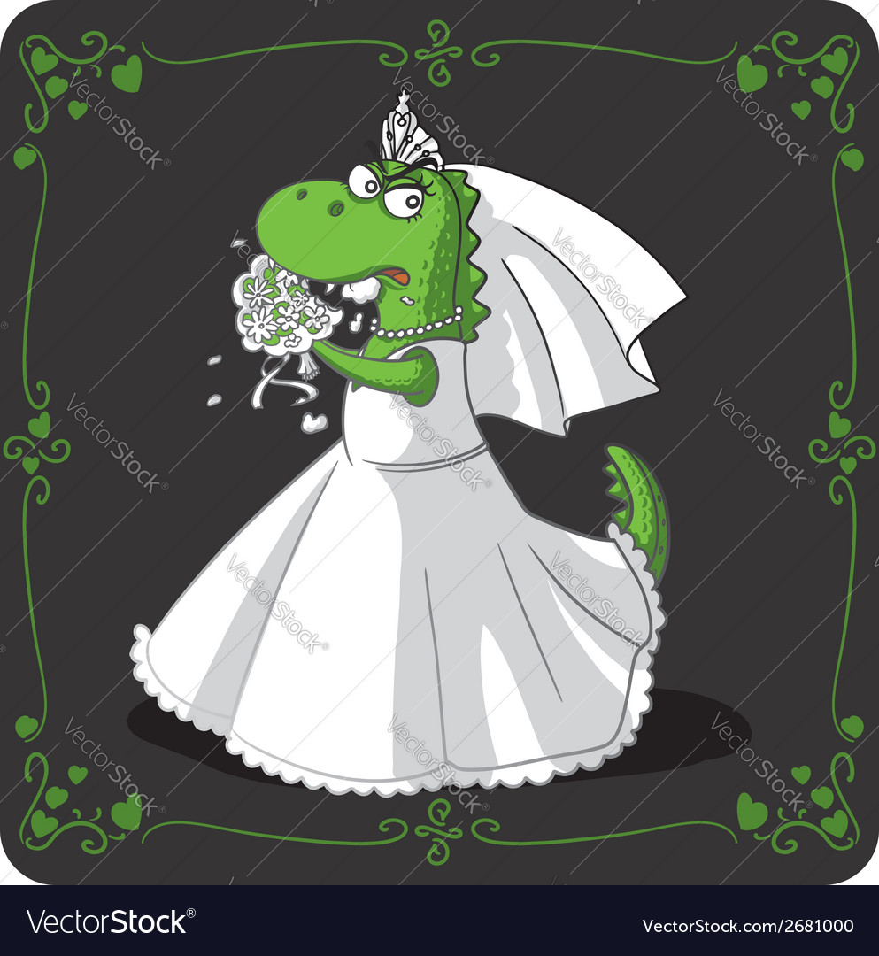 Bridezilla cartoon vector | Price: 1 Credit (USD $1)