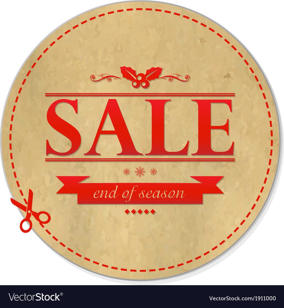 Christmas retro banner vector | Price: 1 Credit (USD $1)