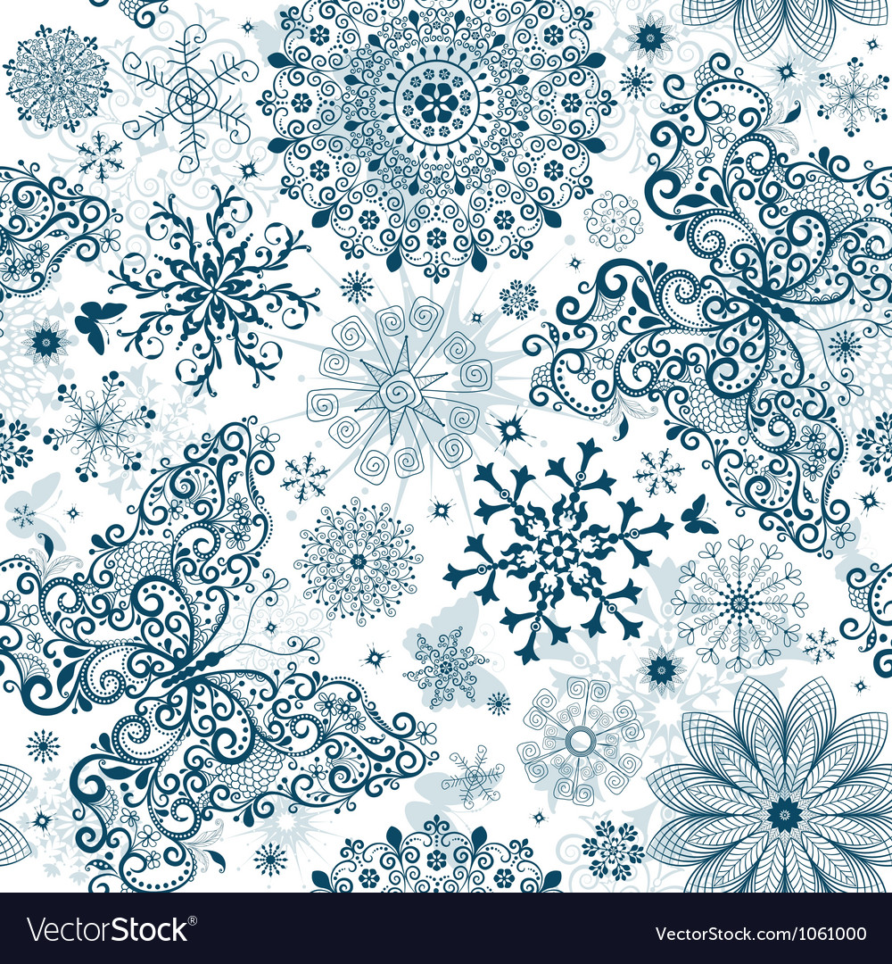 Christmas white seamless patter vector | Price: 1 Credit (USD $1)