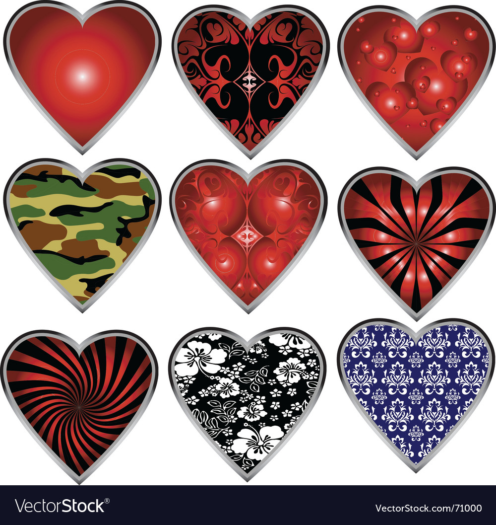 Decorative hearts vector | Price: 1 Credit (USD $1)