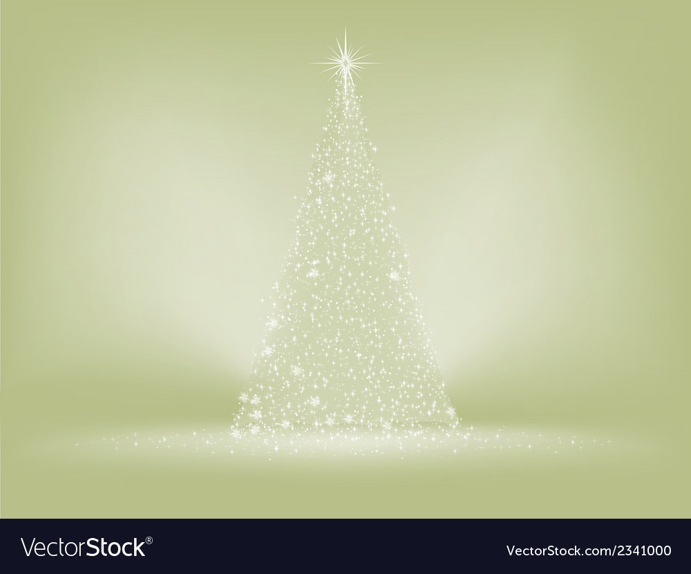 Elegant christmas tree card eps 8 vector | Price: 1 Credit (USD $1)