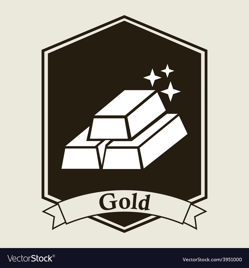 Gold bullion design vector | Price: 1 Credit (USD $1)