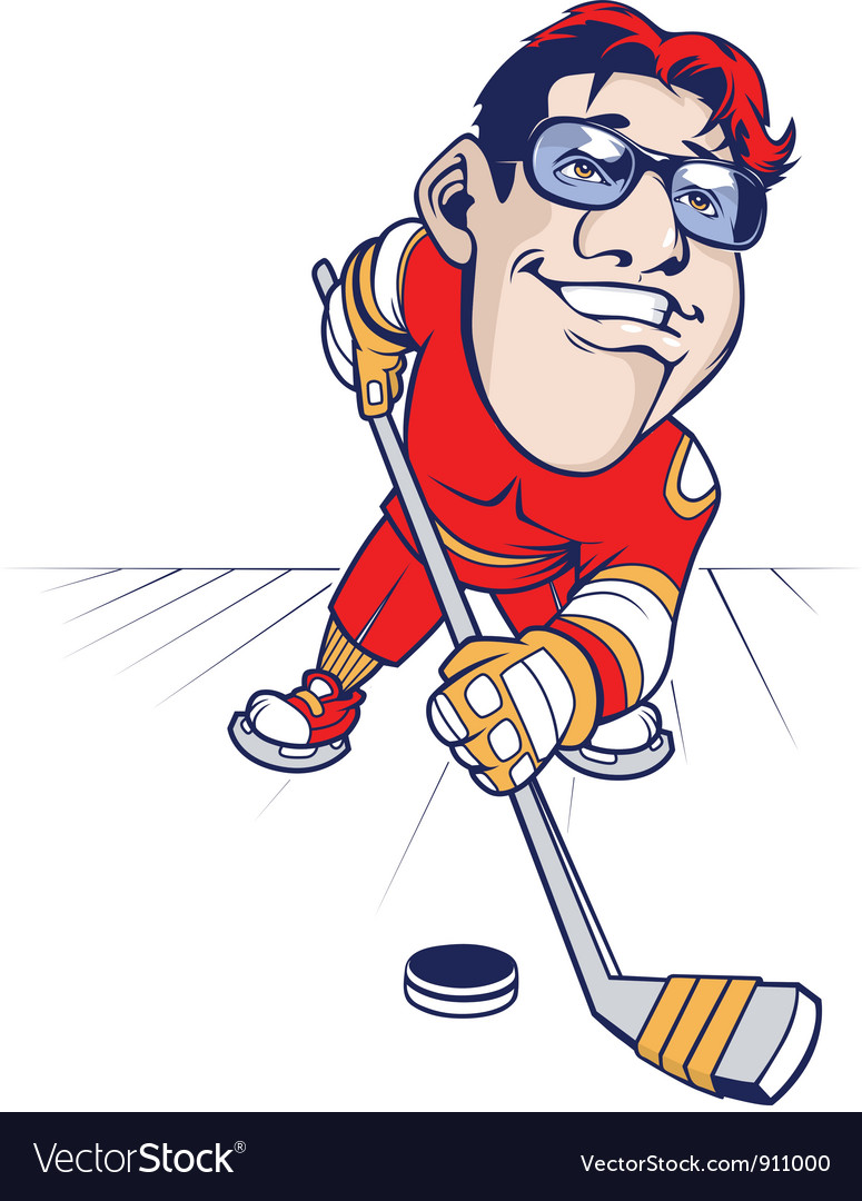 Hockey player vector | Price: 3 Credit (USD $3)