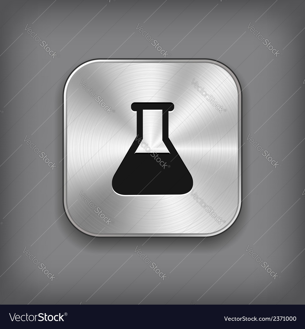 Laboratory equipment icon - metal app button vector | Price: 1 Credit (USD $1)