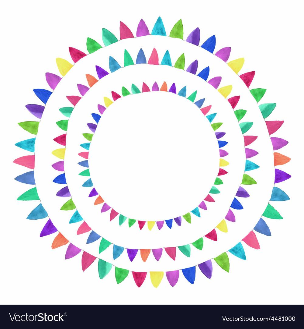 Multicolored bright flag composition watercolor vector   Price: 1 Credit (USD $1)