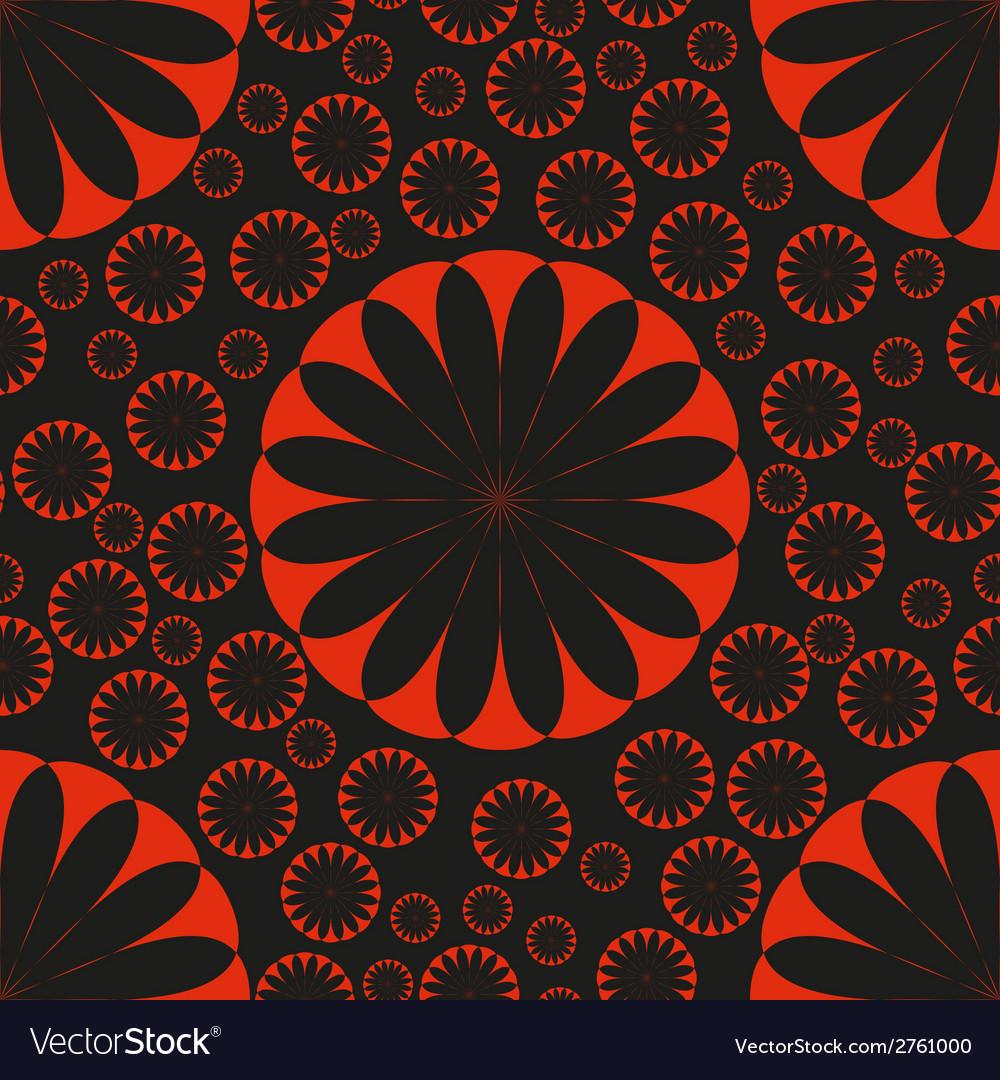 Orange flower seamless pattern bright vector   Price: 1 Credit (USD $1)