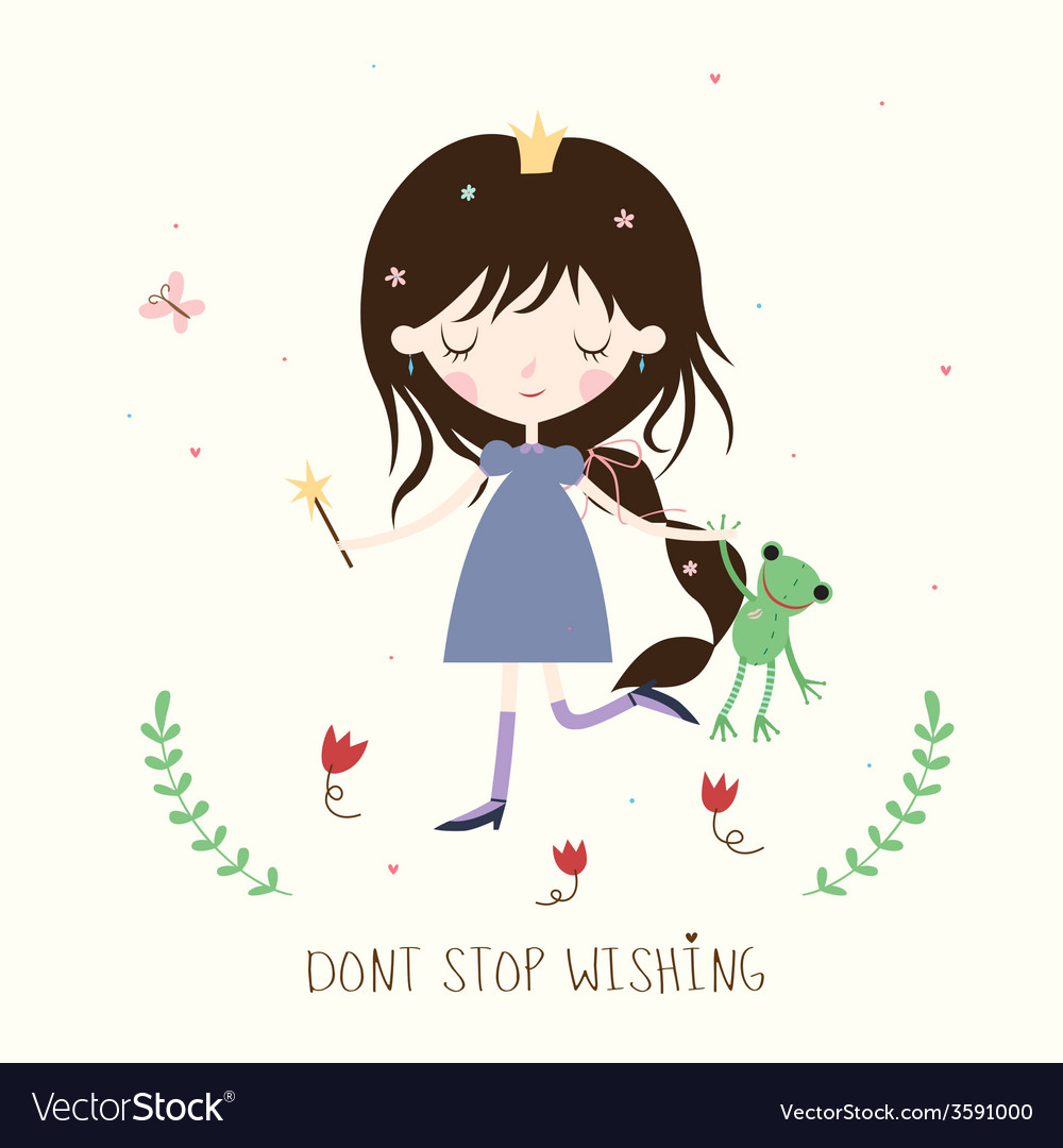 Princess and froggie vector | Price: 1 Credit (USD $1)
