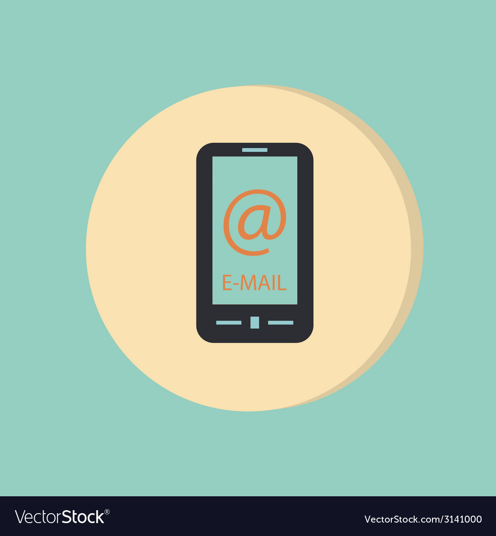 Smartphone with the symbol mail vector | Price: 1 Credit (USD $1)