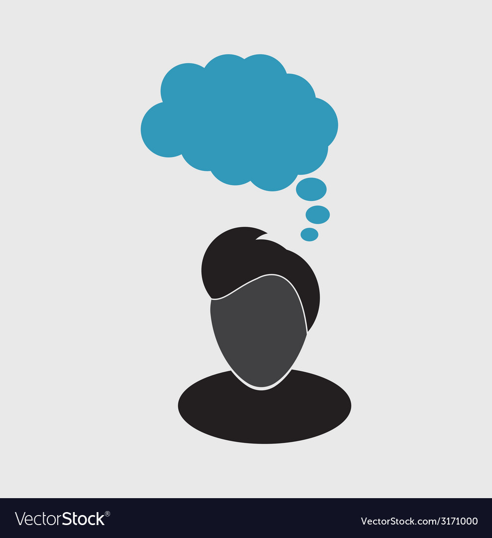 Thoughts icon vector | Price: 1 Credit (USD $1)