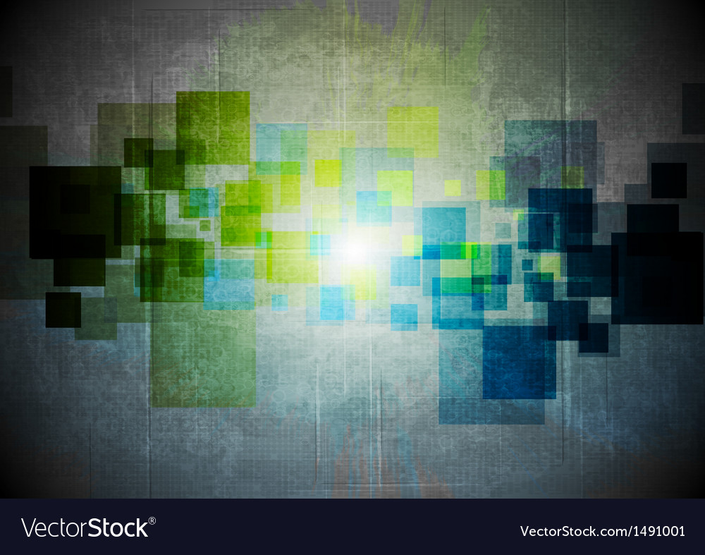 Abstract grunge hi-tech design vector | Price: 1 Credit (USD $1)