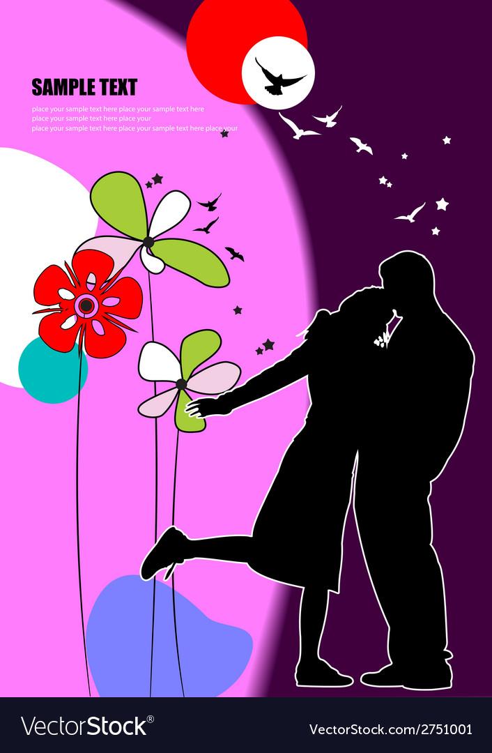 Al 0706 kiss background 02 vector | Price: 1 Credit (USD $1)