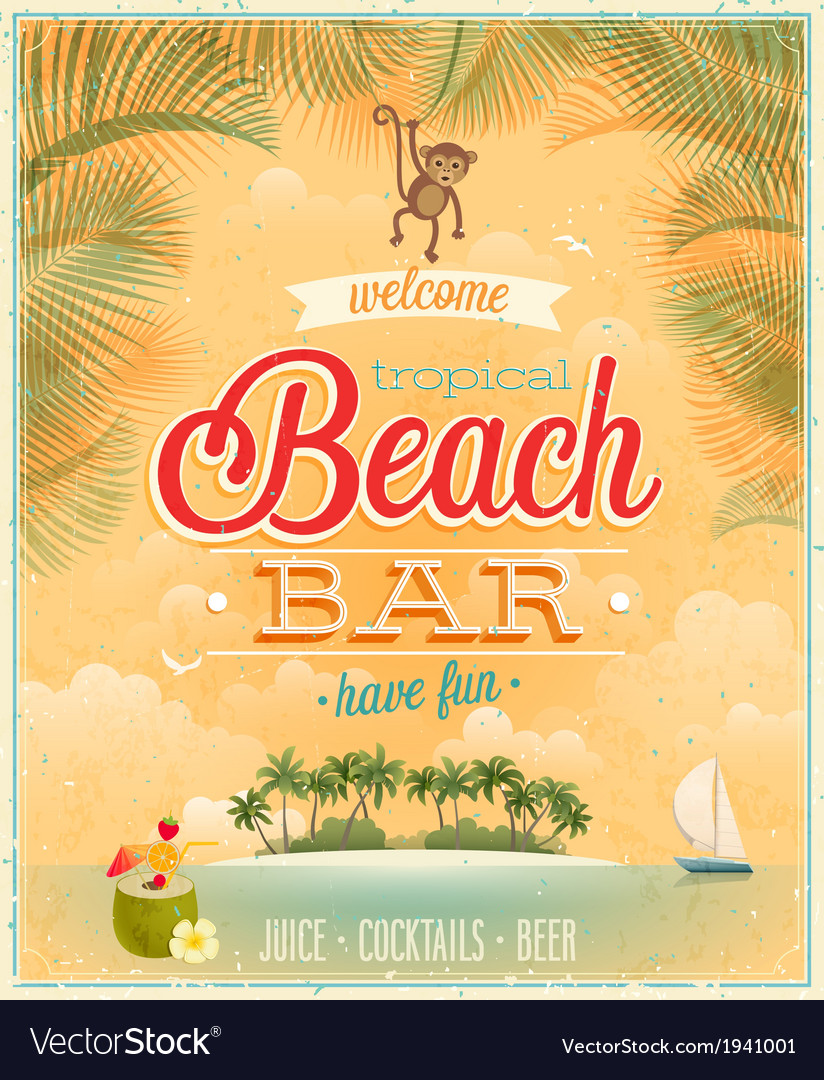 Beach bar2 vector | Price: 1 Credit (USD $1)