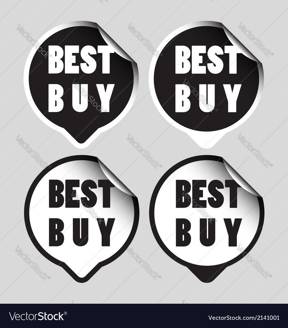 Best buy stickers vector | Price: 1 Credit (USD $1)