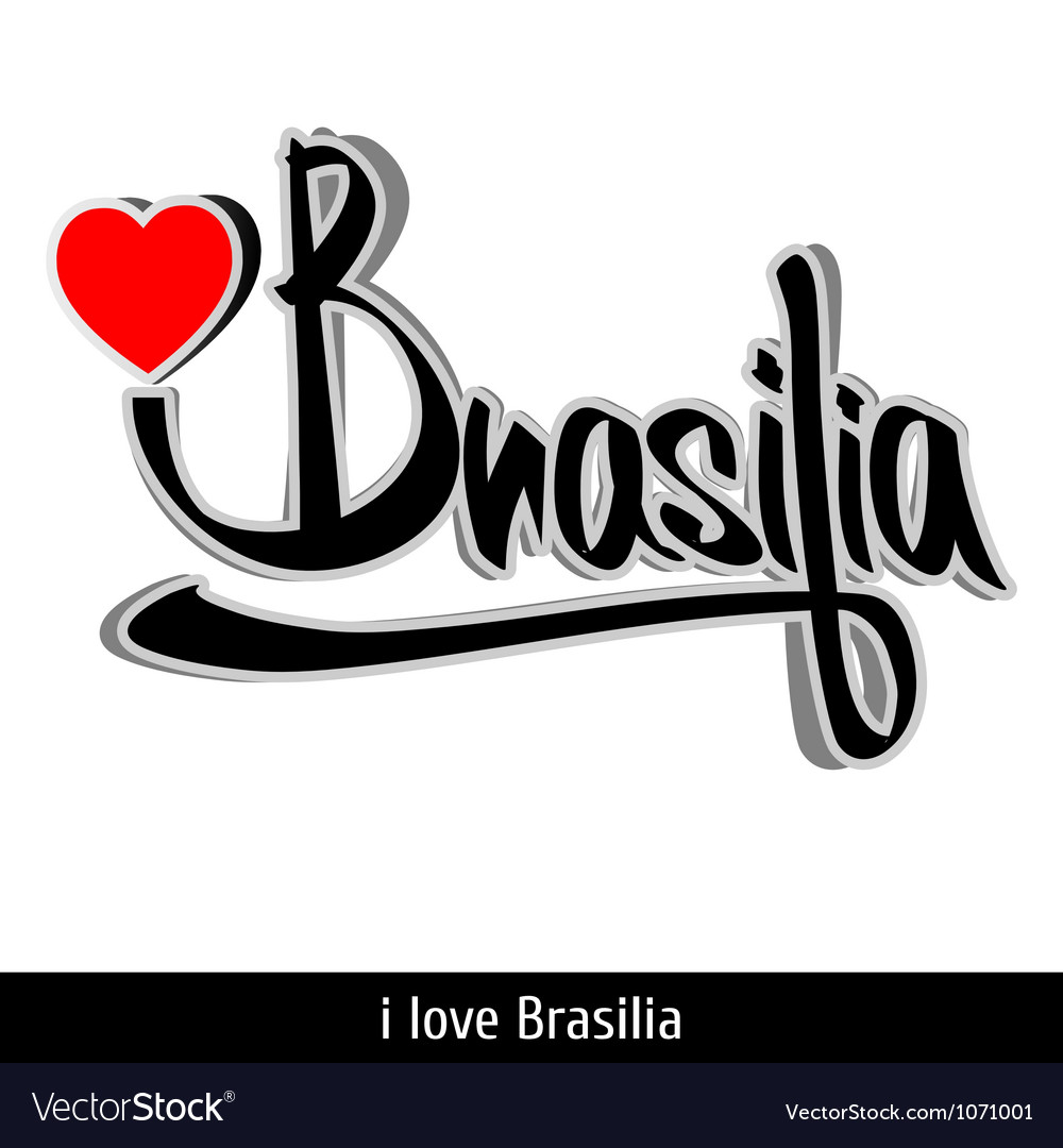 Brasilia greetings hand lettering calligraphy vector | Price: 1 Credit (USD $1)