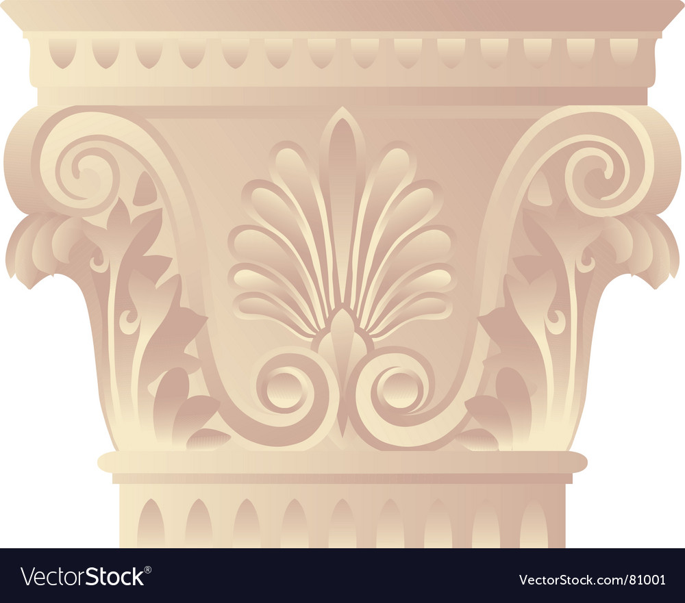 Corinthian capital vector | Price: 1 Credit (USD $1)