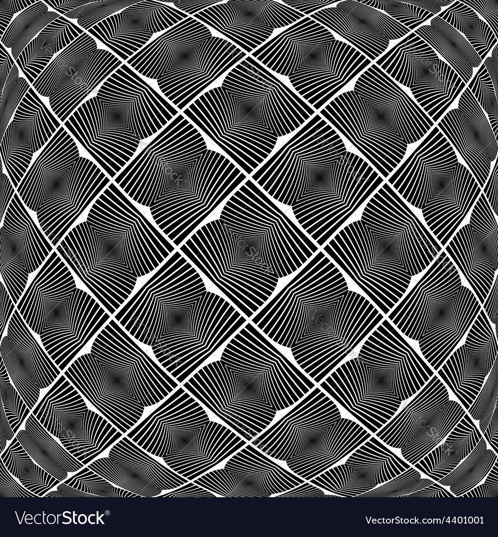 Design warped monochrome geometric pattern vector | Price: 1 Credit (USD $1)