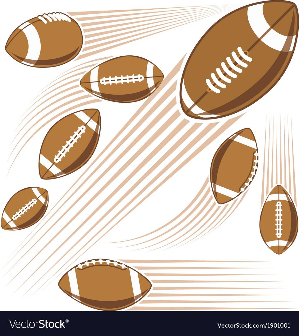 Flying american football ball vector | Price: 1 Credit (USD $1)