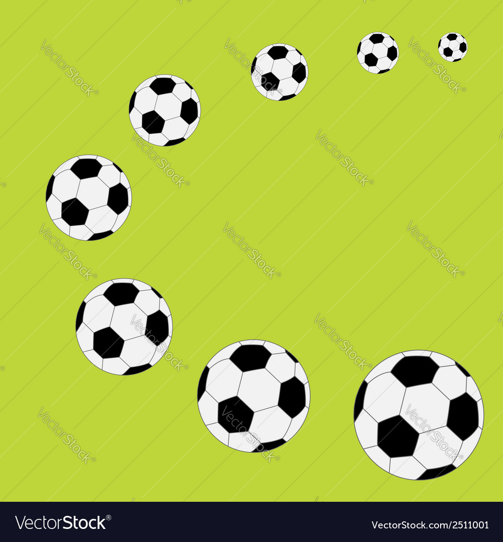 Football soccer ball frame flat design style vector | Price: 1 Credit (USD $1)