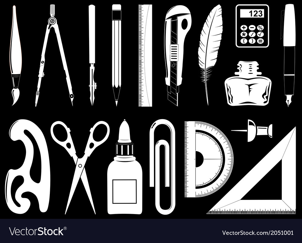 Icons of instruments vector | Price: 1 Credit (USD $1)