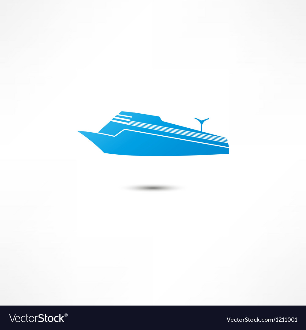 Liner marine icon vector | Price: 1 Credit (USD $1)
