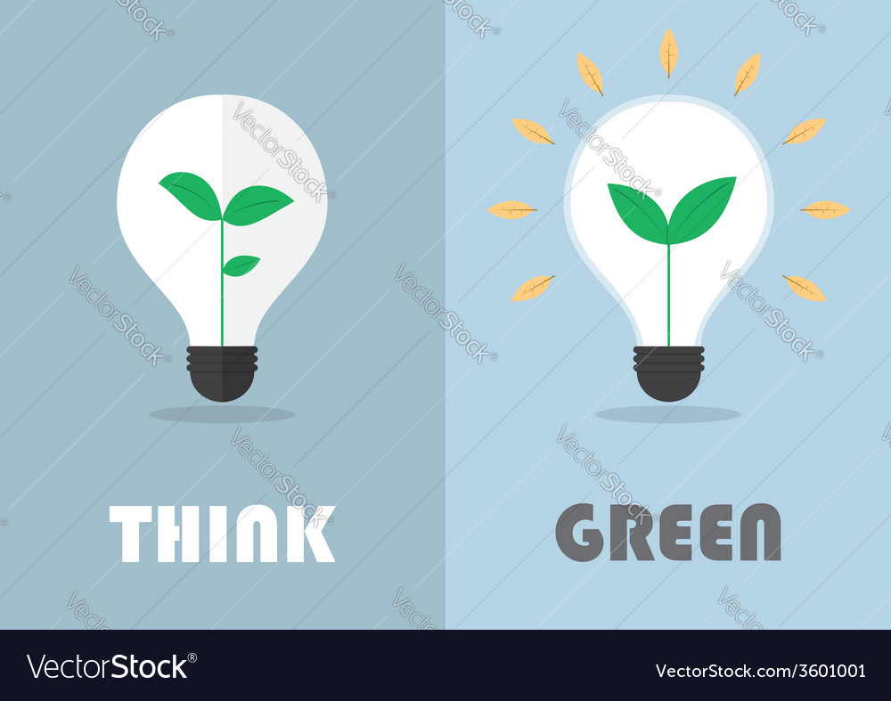 Little plant inside a light bulb green eco energy vector   Price: 1 Credit (USD $1)
