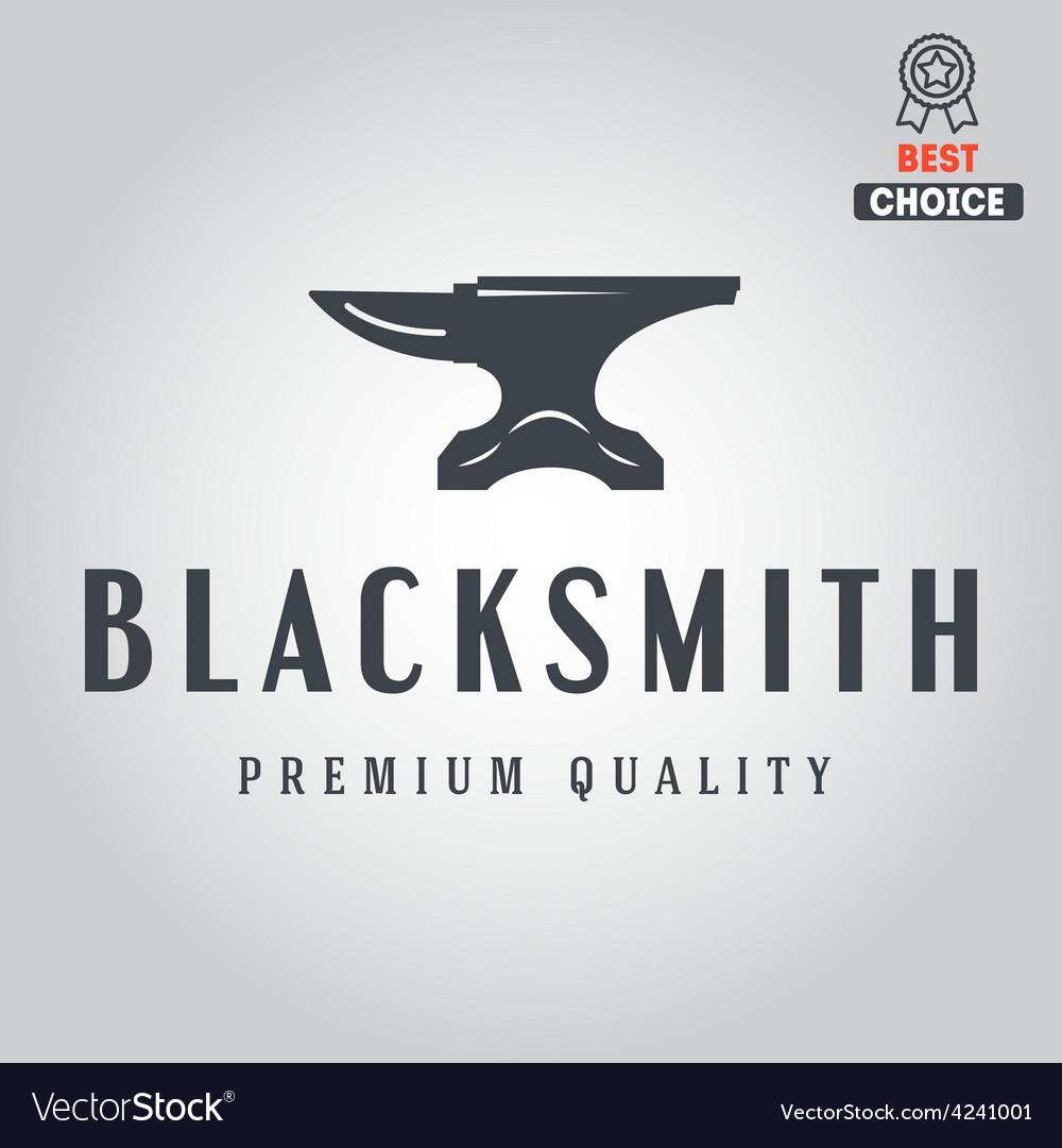 Logo for blacksmith typographic logotype badge vector | Price: 1 Credit (USD $1)