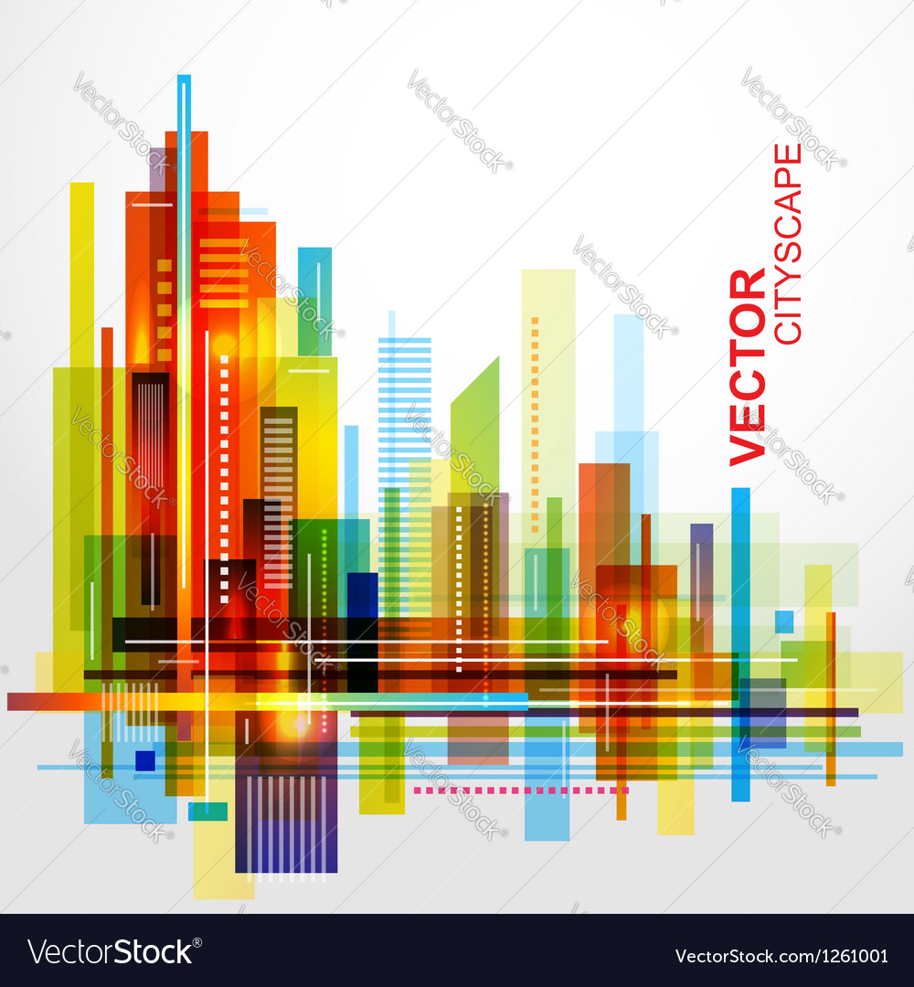 Modern cityscape background vector | Price: 1 Credit (USD $1)