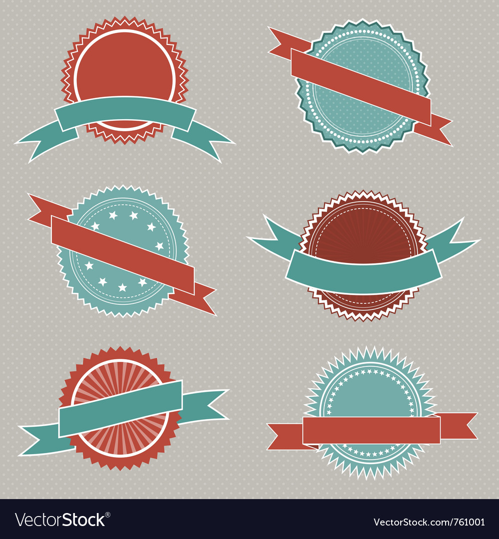 Retro styled badges vector | Price: 1 Credit (USD $1)