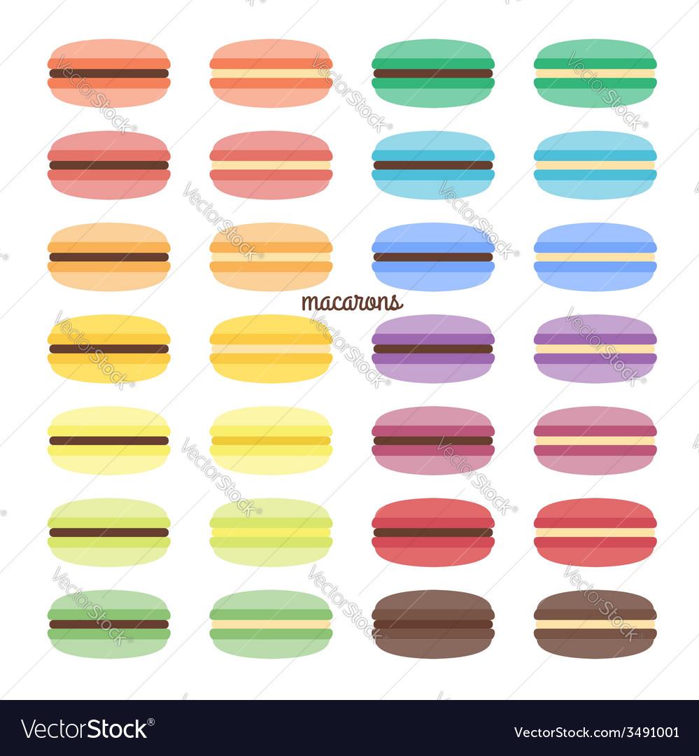 Set of sweet macarons vector | Price: 1 Credit (USD $1)