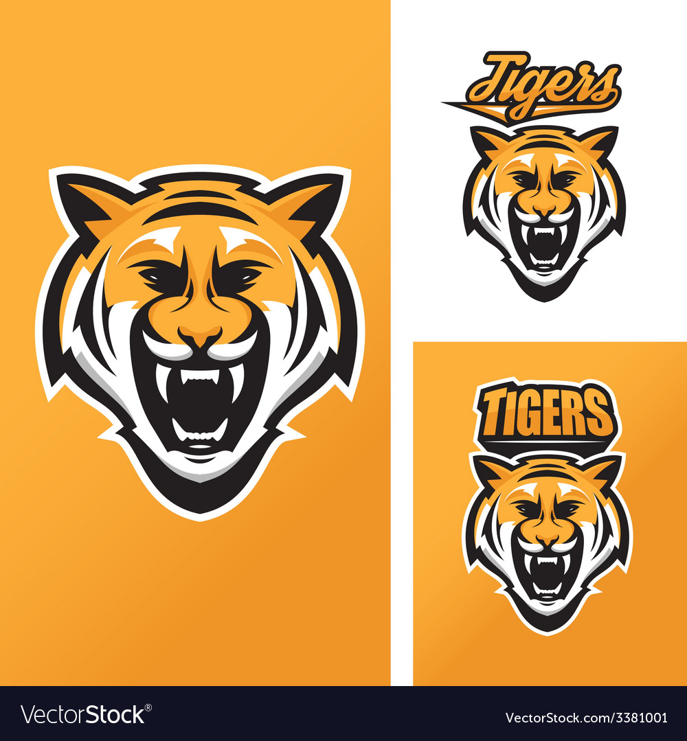 Tiger mascot for sport teams vector | Price: 1 Credit (USD $1)