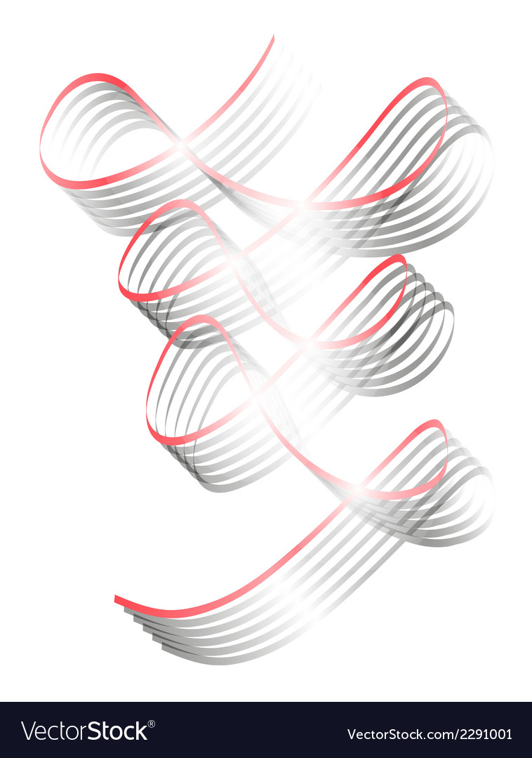 Twisted shining ribbons vector | Price: 1 Credit (USD $1)