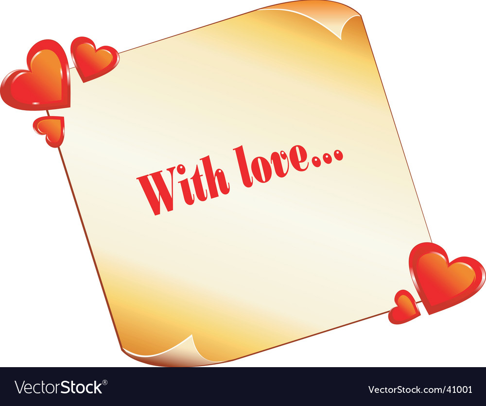 Valentines note vector | Price: 1 Credit (USD $1)