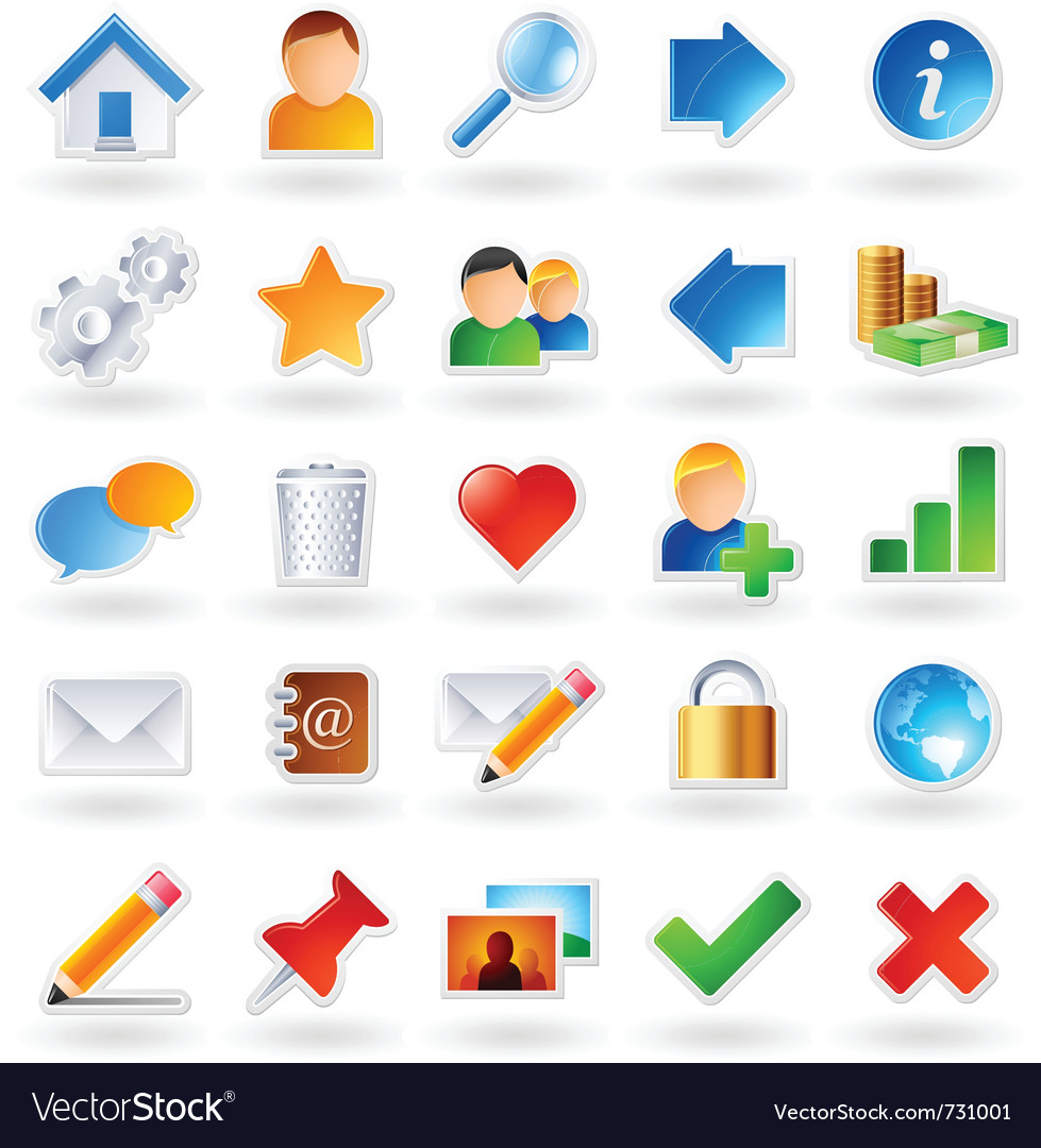 Web community icons vector | Price: 5 Credit (USD $5)