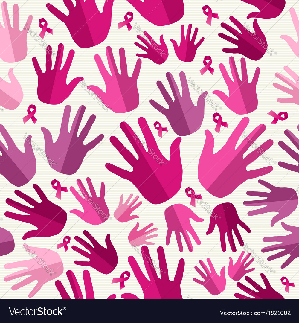 Breast cancer awareness ribbon women hands vector   Price: 1 Credit (USD $1)
