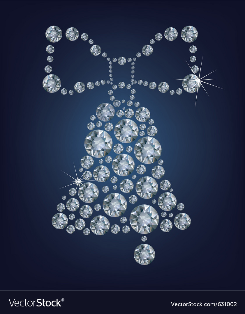 Christmas bell made from diamonds vector | Price: 1 Credit (USD $1)