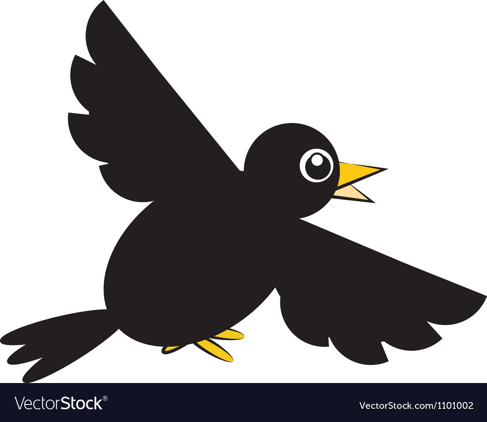 Crow black vector | Price: 1 Credit (USD $1)