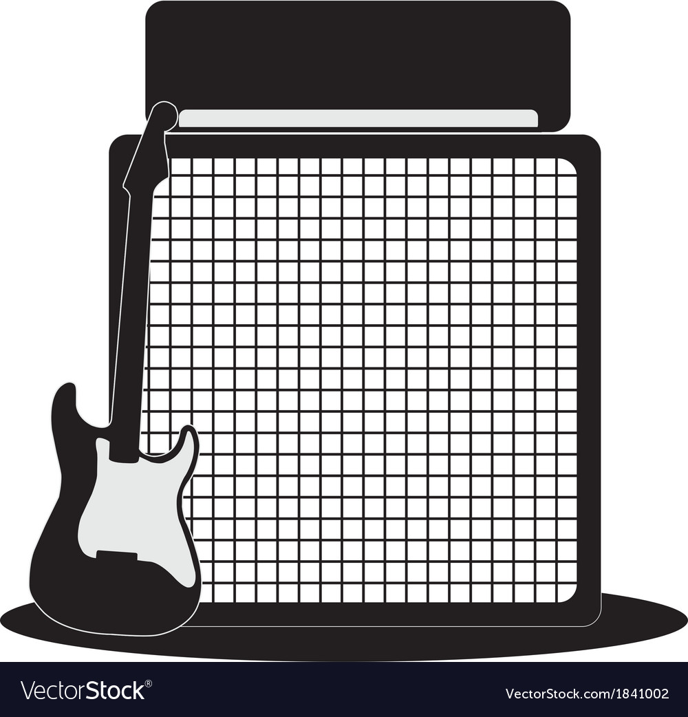Guitar and half-stack vector | Price: 1 Credit (USD $1)