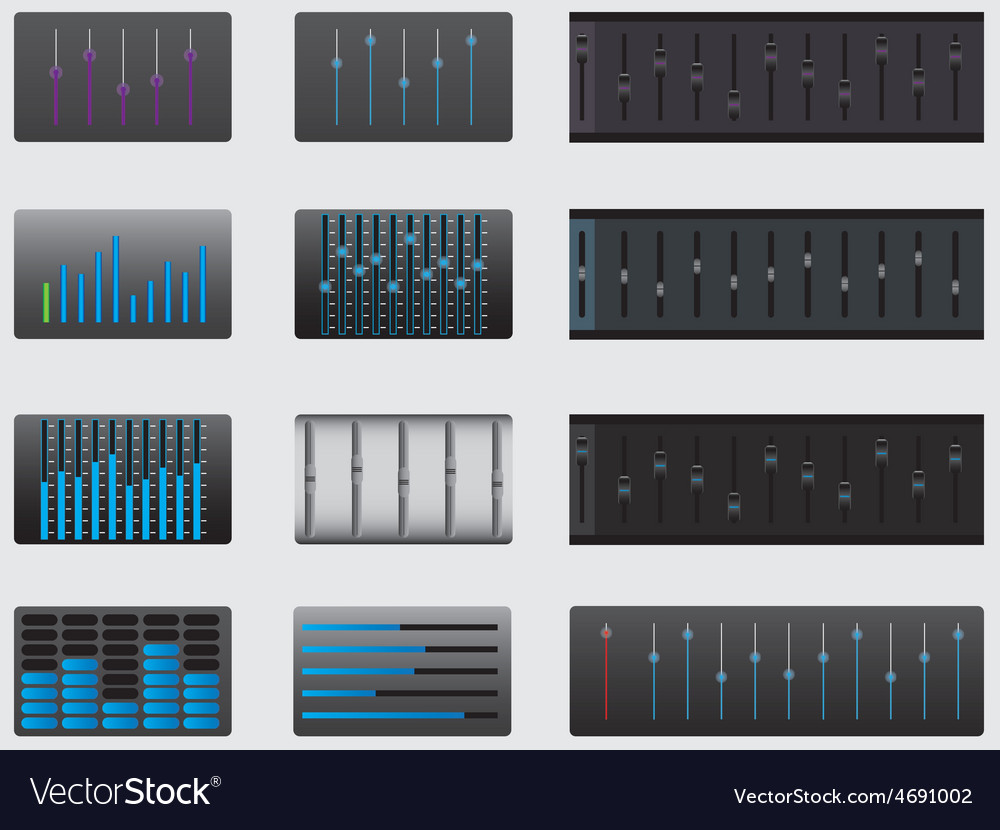 Music equalizers vector | Price: 1 Credit (USD $1)