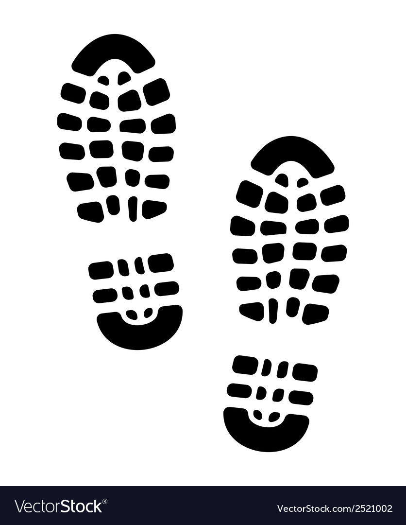 Otisak cipela sama vector | Price: 1 Credit (USD $1)
