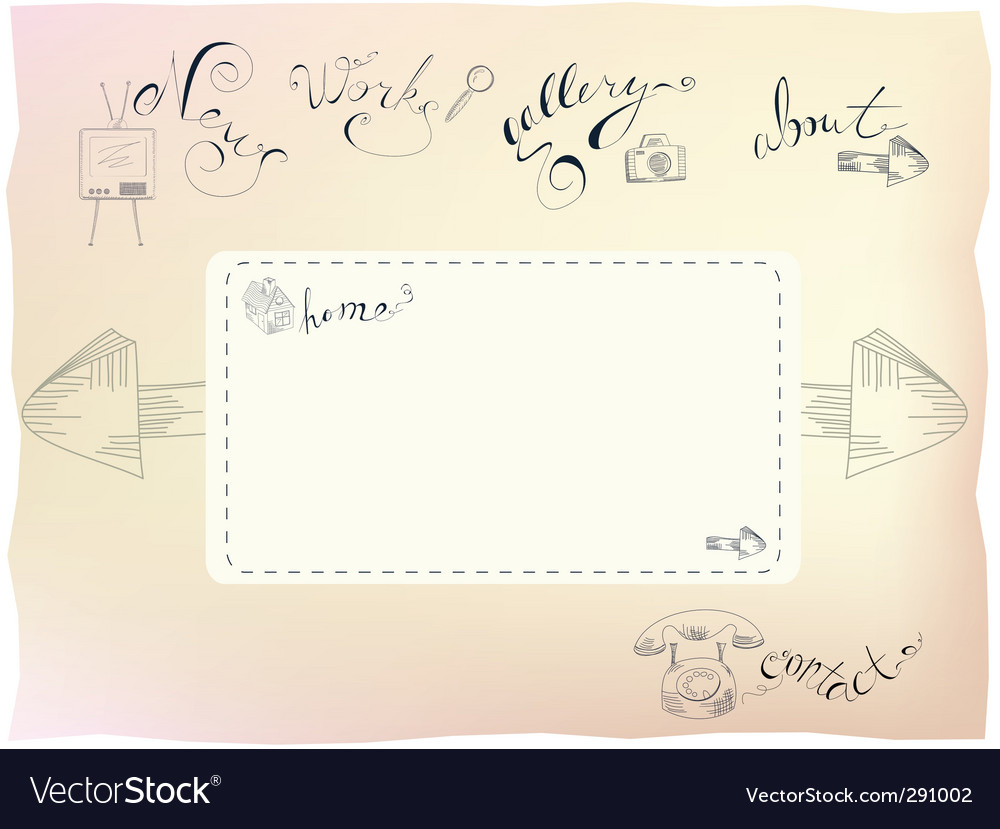 Template for web design vector | Price: 1 Credit (USD $1)