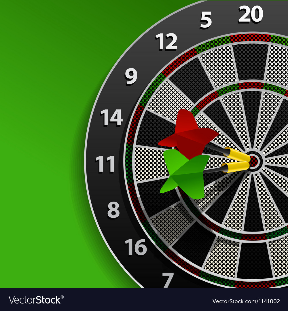 Two darts in aim vector | Price: 1 Credit (USD $1)