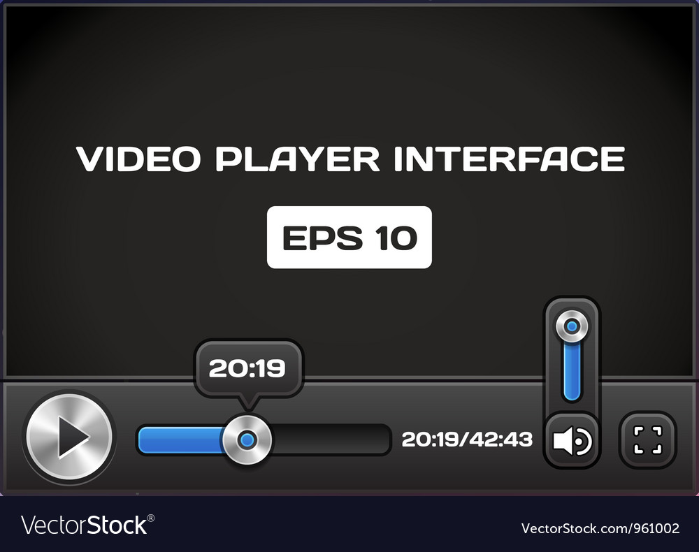 Video player interface vector | Price: 1 Credit (USD $1)