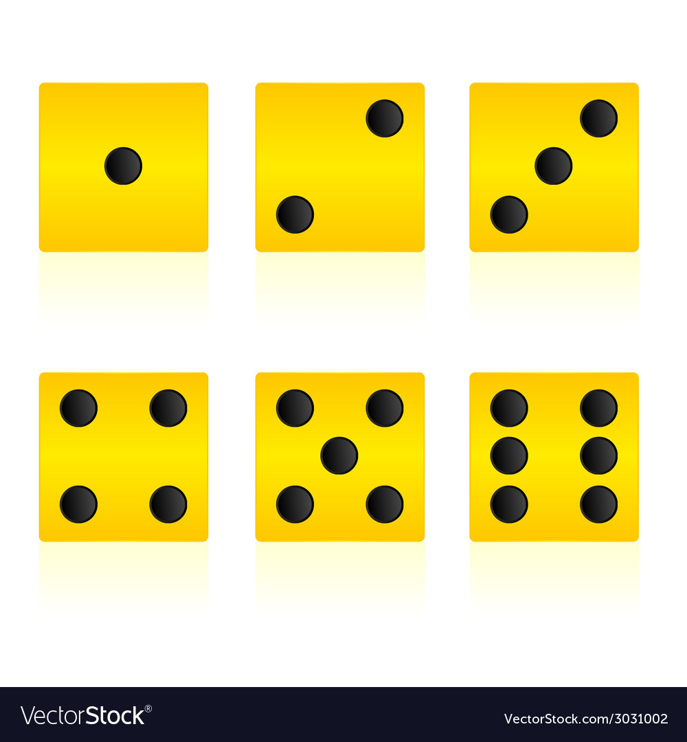 Yellow cube for playing game vector | Price: 1 Credit (USD $1)