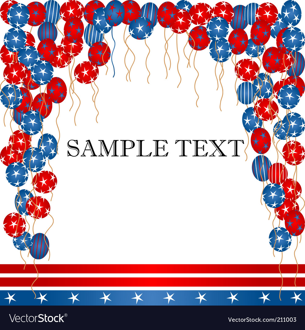4th of july card vector | Price: 1 Credit (USD $1)