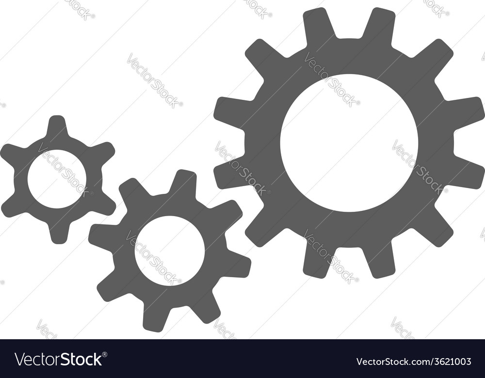 Black cogs gears vector | Price: 1 Credit (USD $1)