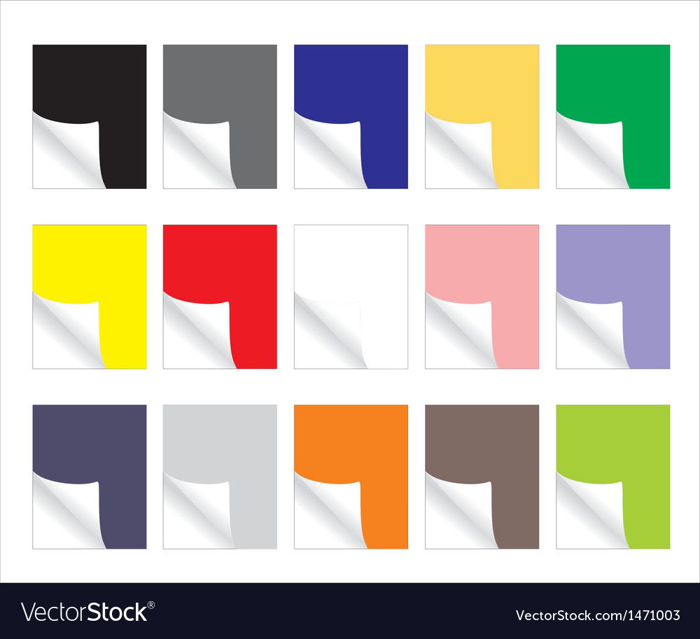 Blank colorful paper sheets vector | Price: 1 Credit (USD $1)