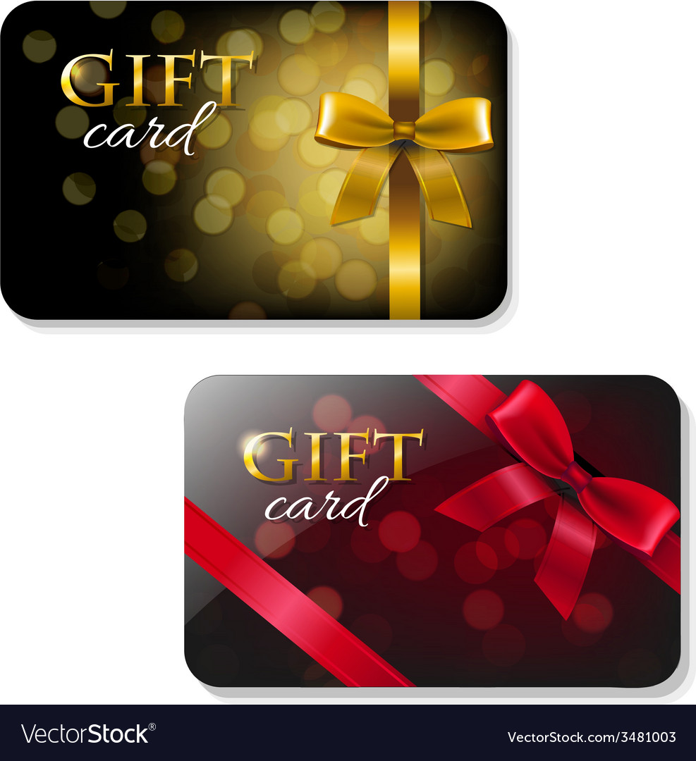 Color gift card set vector | Price: 1 Credit (USD $1)