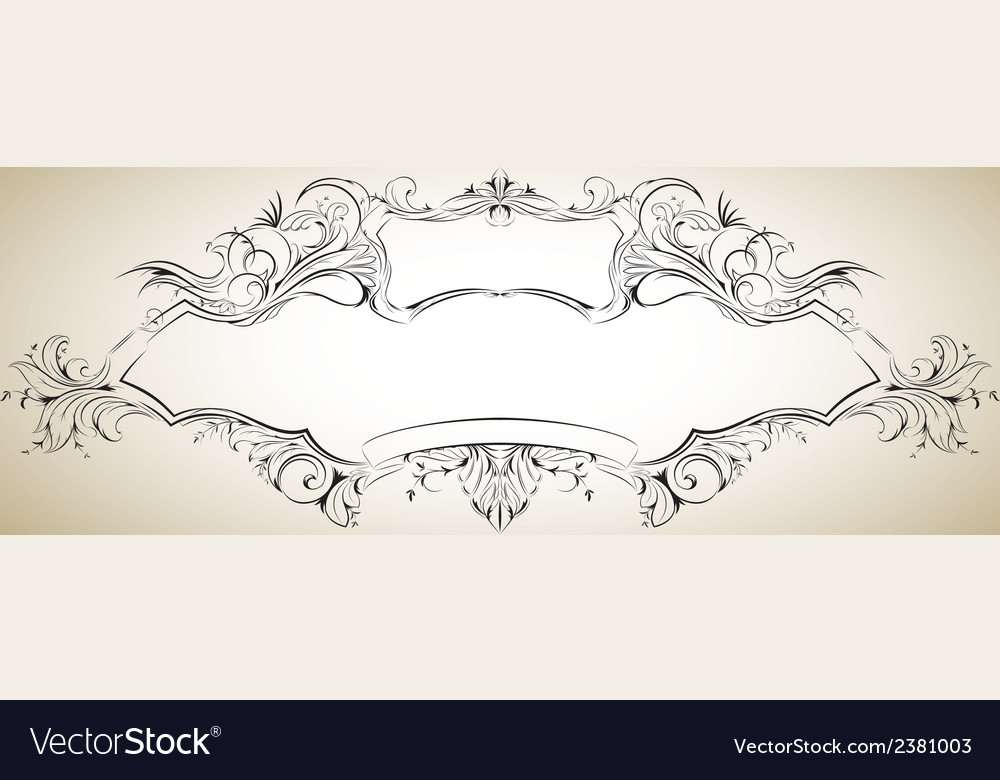 Frame with floral elements for registration 6 vector | Price: 1 Credit (USD $1)