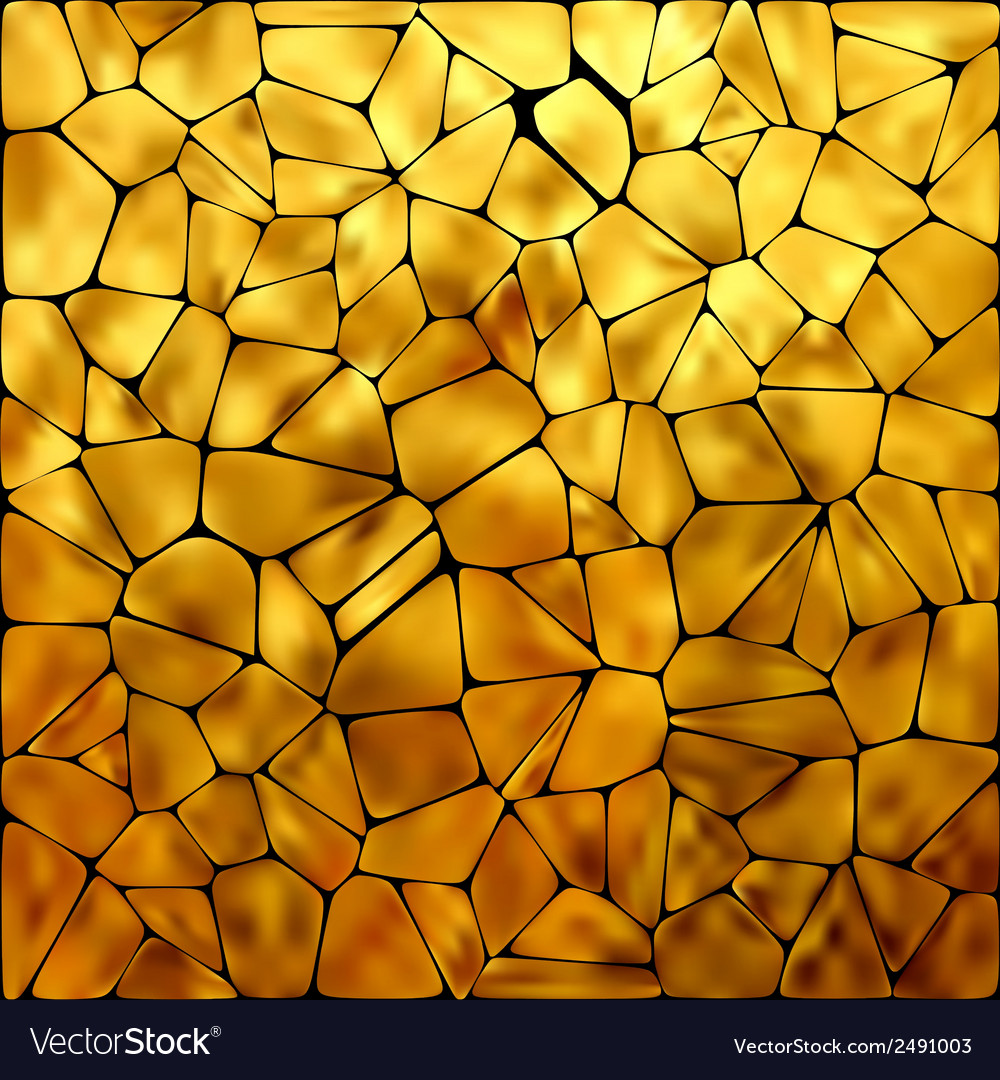 Golden mosaic background eps 8 vector | Price: 1 Credit (USD $1)